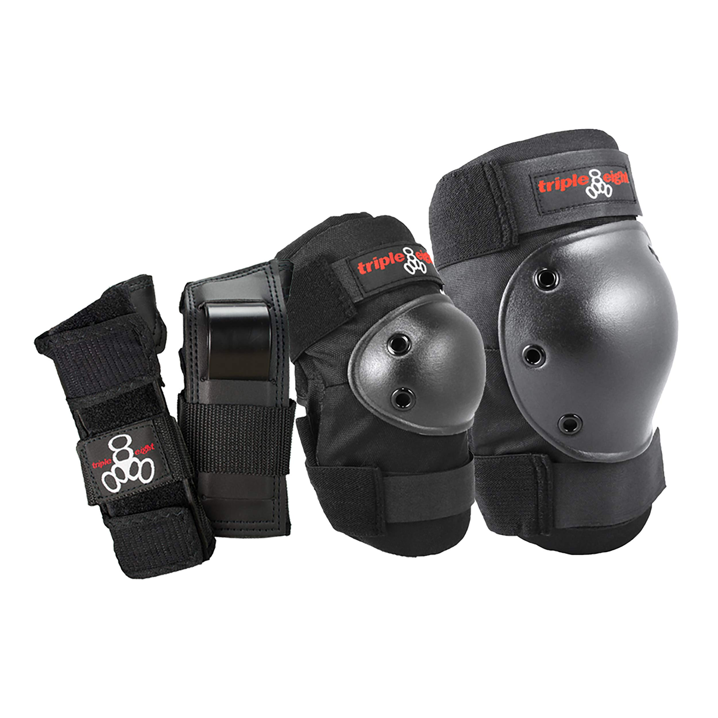 Triple 8 Saver Series Wristsavers/Kneesavers/Elbowsavers (Black, Large, 3 Pack)