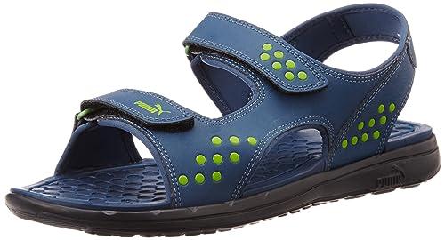 e00c0b24f97b Puma Men s Faas Sandal Ind. Dark Denim-Macaw Green Athletic and Outdoor  Sandals -