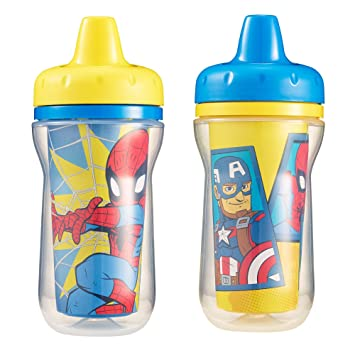 Marvel Adventures Superhero The First Years Insulated Sippy Cup 2 Piece