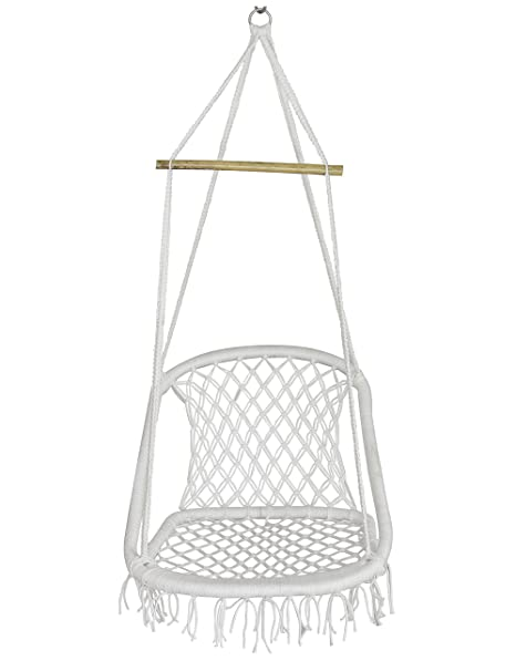 NOVICZ Hanging Swing Chair for Balcony Jhula for Kids Adults Home Indoor Outdoor Garden LVLY-XL-Whitecolor 1 Year Warranty