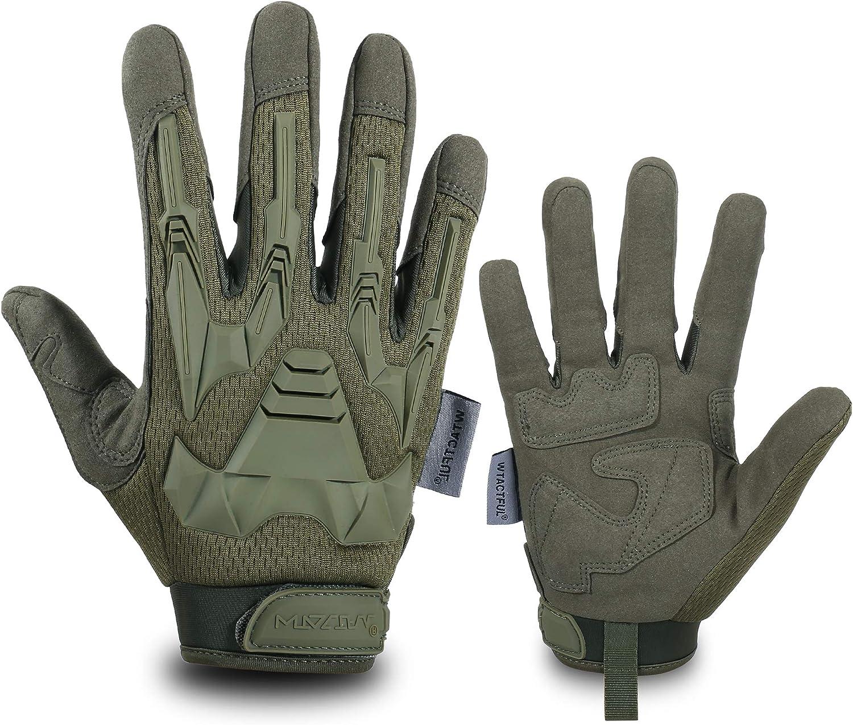 WTACTFUL Guantes de dedo completo para motocicleta, equitación, ciclismo, caza, senderismo, equitación, trabajo, escalada, camping, conducción, guantes para hombre