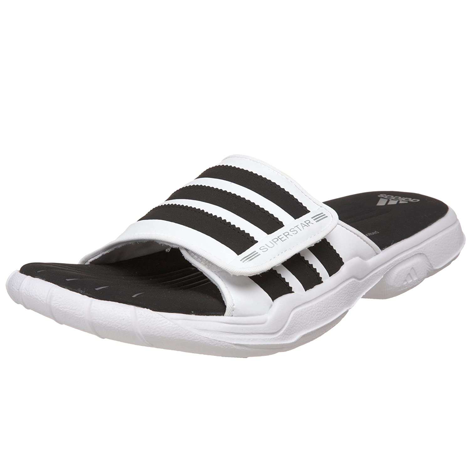 ... amazon adidas mens ss 2g slide plus sandal white black metallic silver  5 m sport sandals