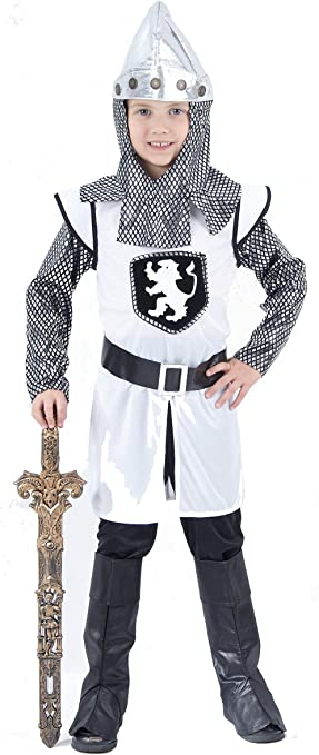 Disfraz de caballero cruzado medieval para niño 4-6 años (104/116 ...