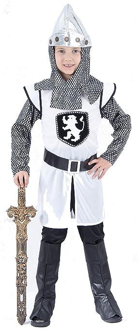 Disfraz de caballero cruzado medieval para niño 4-6 años (104/116)