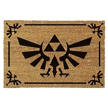 Zelda Matte Triforce Logo Floor Mat Nintendo 60x40cm Coconut beige