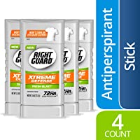 4-Count Right Guard Xtreme Defense Antiperspirant Deodorant Invisible Solid Stick, Fresh Blast, 2.6 Ounce