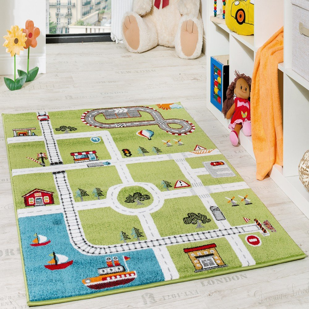 Teppich rund kinderzimmer grün  Teppiche fürs Kinderzimmer | Amazon.de