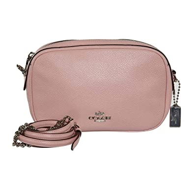 71d722e3c2a4 Coach Womens Handbag, Pebbled Leather, Isla Crossbody Bag with Chain,  F25922 (Blush