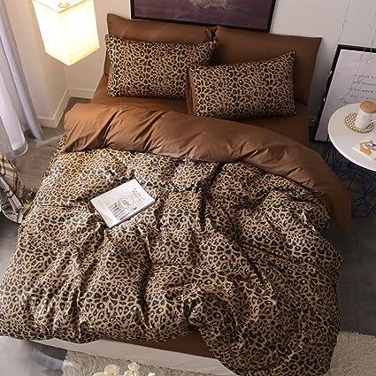 Amazon.com: Siluoyu 3 Pieces Duvet Cover Set 100% Natural Cotton ...