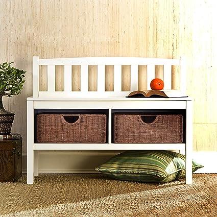 Wondrous Amazon Com Storage Bench With 2 Roomy Cubby Holes Durable Camellatalisay Diy Chair Ideas Camellatalisaycom
