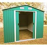 Cobertizo cobertizo 2,57x2,06m jardín de chapa galvanizada verde metálica de acero