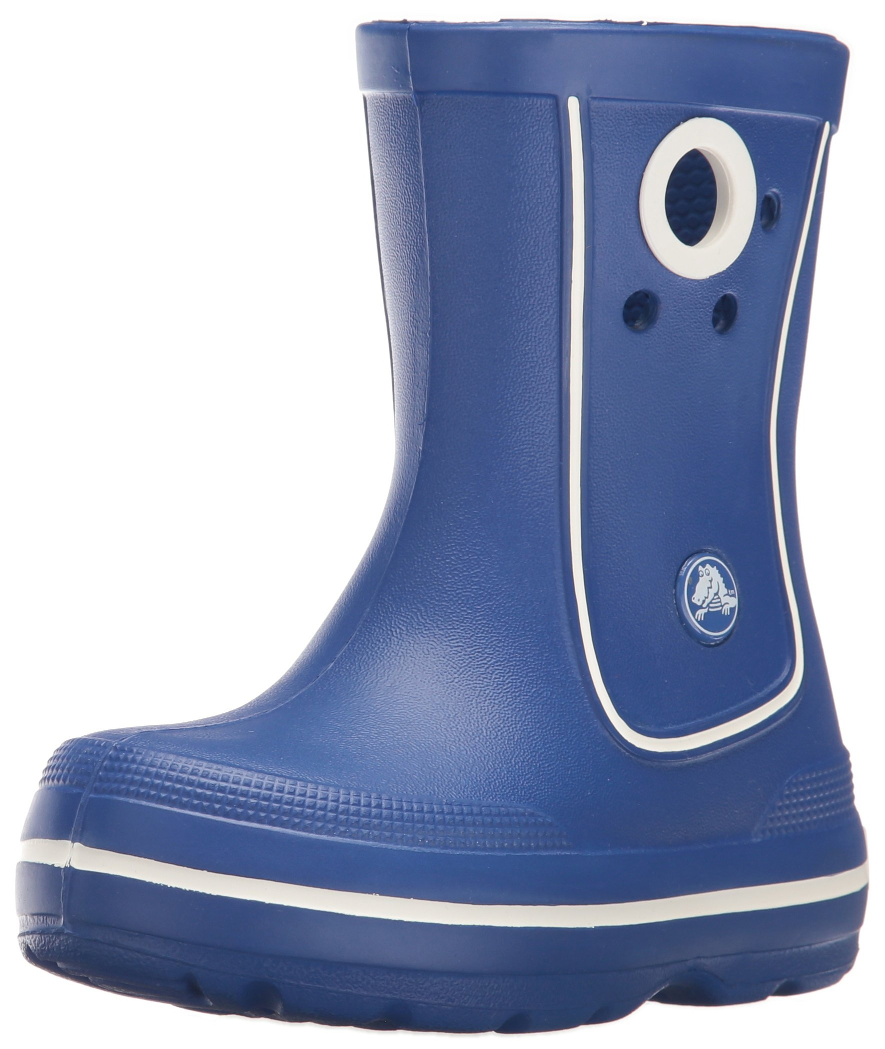 Crocs Kids Crocband Jaunt Rain Boot, Cerulean Blue, 10 M US Little Kid