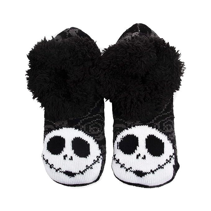 c7601f0afb5 Amazon.com  Disney Women s Nightmare Before Christmas Slipper Sock  Shoes