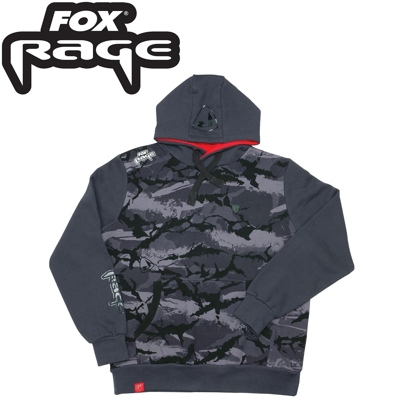 Fox Rage Camo Hoody - Angelpullover, Hoodie für Angler, Kapuzenpullover, Camouflage Pullover, Anglerpullover, Angelbekleidung