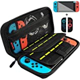 Nintendo Switch ケース 任天堂スイッチ ケース ニンテンドースイッチ ケース 保護ガラスフィルムとJoy-Con専用カバー付き 外出や旅行用キャリングケース ナイロン素材 防塵、防汚、耐衝撃 ブラック