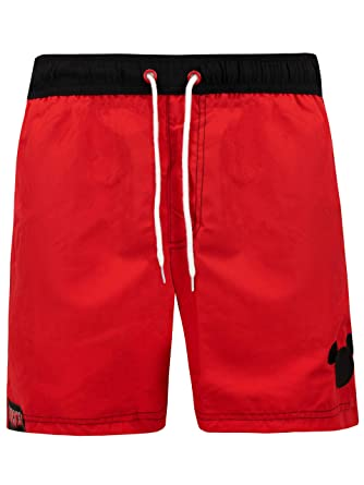 b4966a124f Disney Mens Mickey Mouse Swimming Trunks Size Small Red