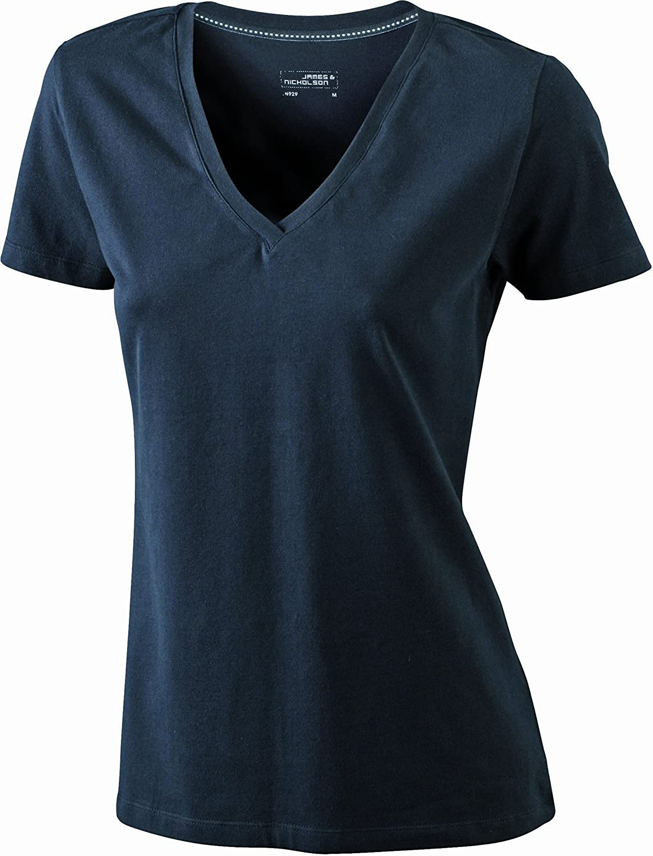 James & Nicholson T-Shirt Stretch Vee Camisa de Maternidad para Mujer