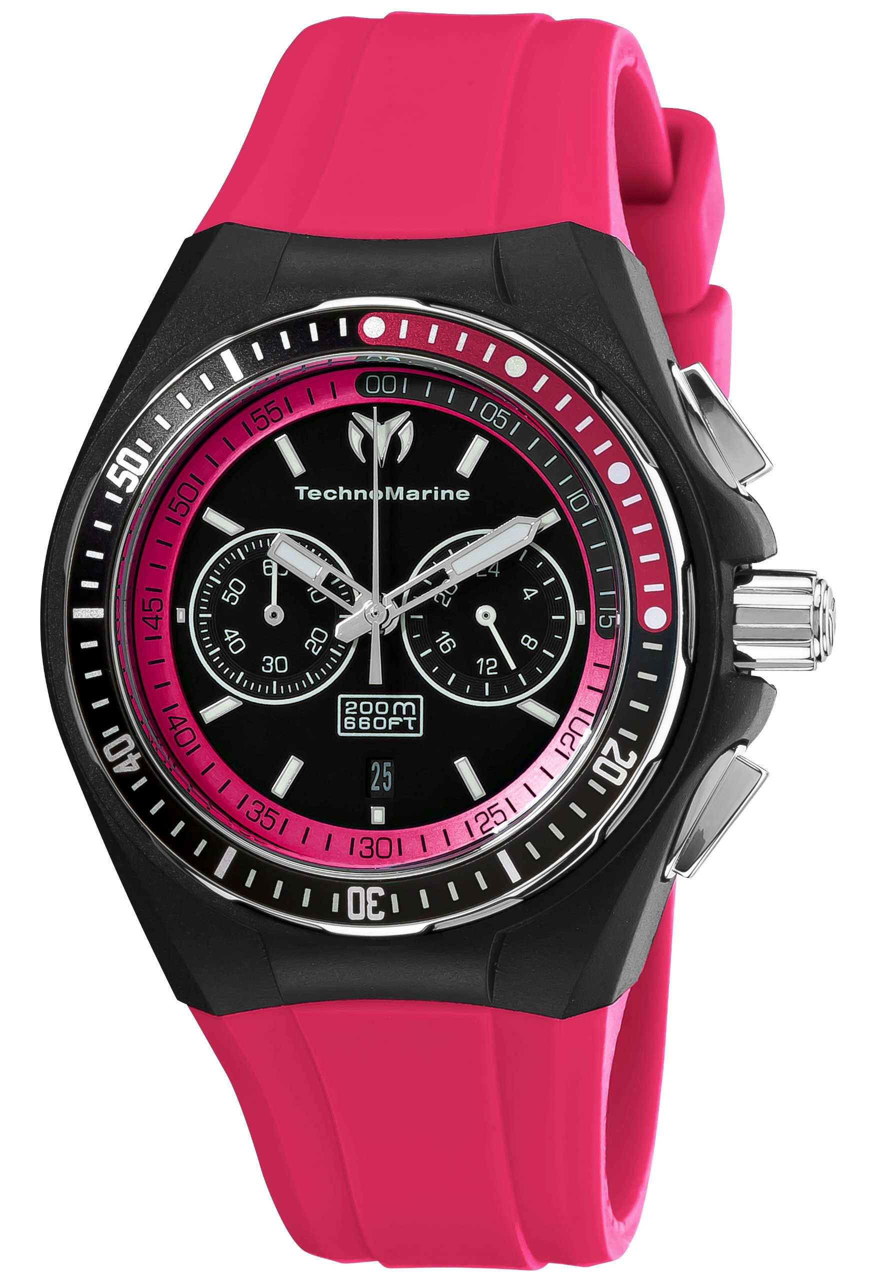 TechnoMarine Unisex 110016 Cruise Sport Chronograph Black and Pink Dial Watch