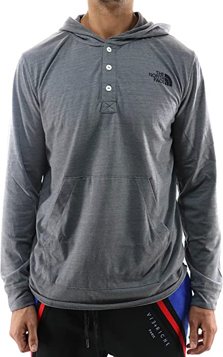 6cbc1b9a5 Amazon.com: The North Face M Henley Triblend TNFMEDIUMGRYHTR/TNF ME ...