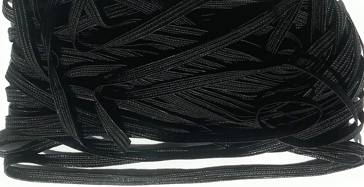 13mm 1//8 Flat Braid Sewing,Quilting Trimming 10 Yards Passementerie Black Middy Braid Rayon