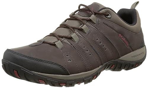 Columbia Woodburn II Men's Low Rise Hiking Shoes, Black (Cordovan/Garnet  Red 231