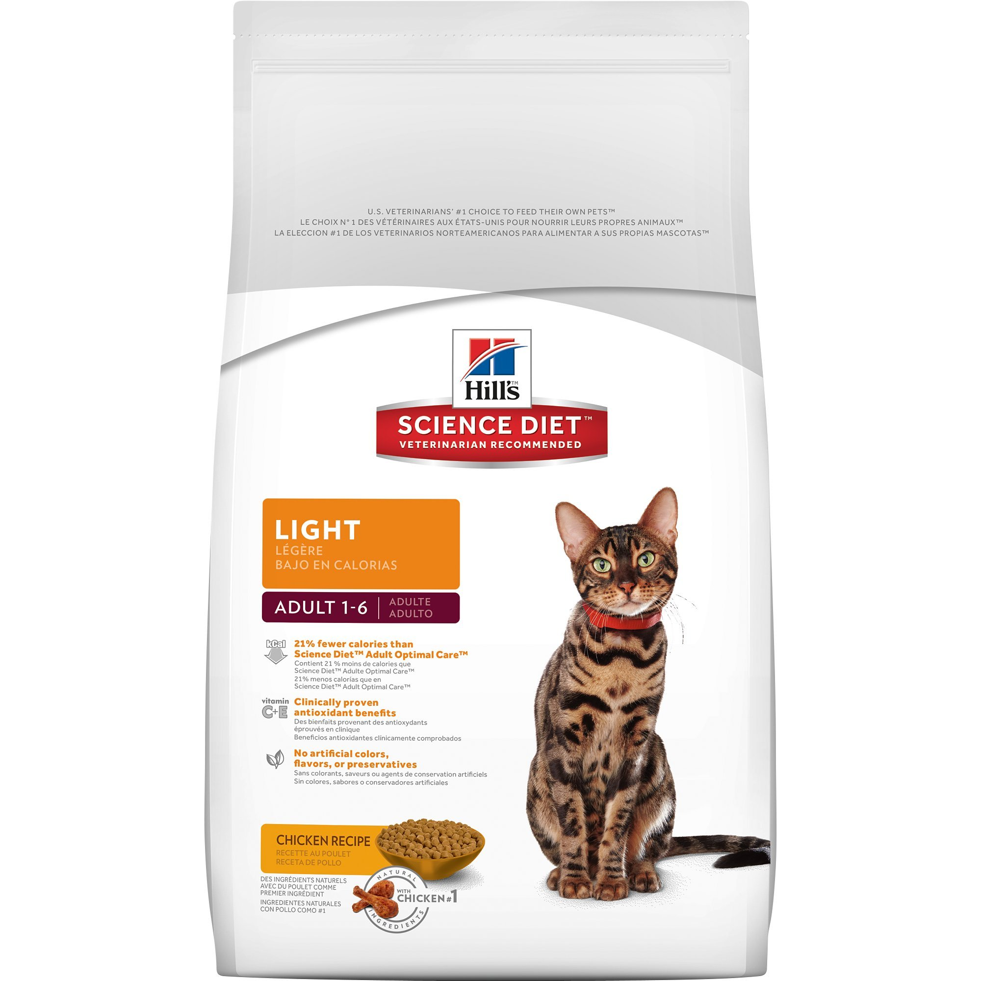 Hill S Science Diet Adult Light Chicken Recipe Dry Cat