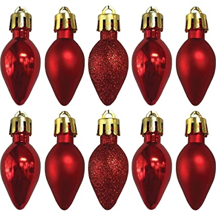 Country Silk Red Bulb Ornaments, Christmas Decorations, 1 1/4 dia, Includes - Amazon.com: Country Silk Red Bulb Ornaments, Christmas Decorations