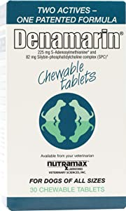 Denamarin Liver Support Supplements for Dogs of All Sizes, Chewable Tablets 30 ct.