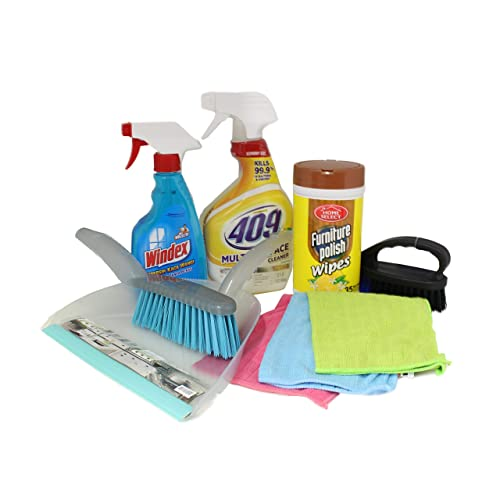 dorm room multipurpose cleaning kit value pack with 409 all purpose windex more