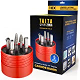"""5pc Carbide Burr Set 1/4"""" Shank Tungsten Double Cut Rotary Die Grinder Bits - Cutting Burrs For Fordom, Dewalt, Milwaukee And"""
