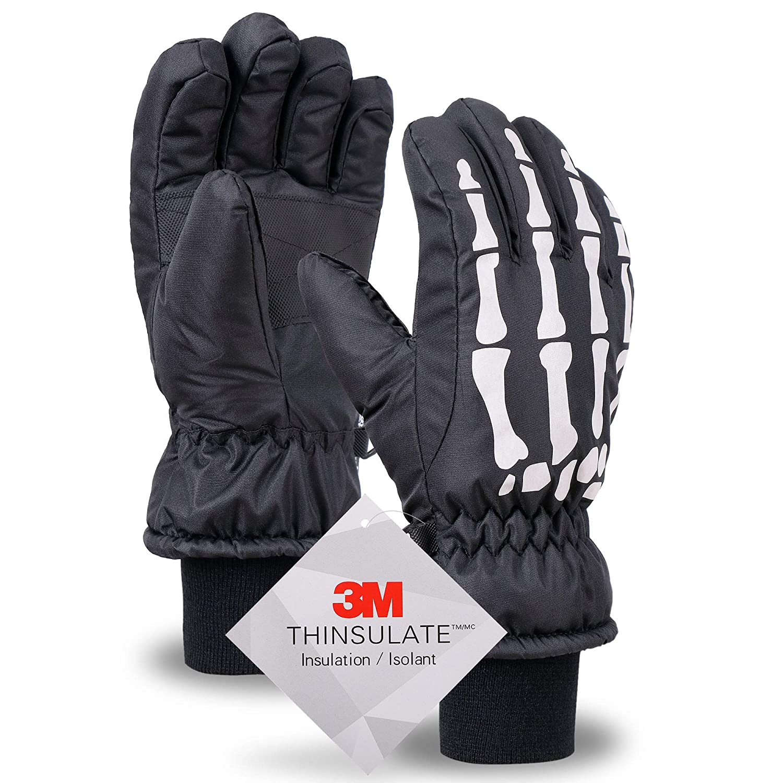 D Diana Dickson Kids 3M Thinsulate Cotton Waterproof Winter Snow Ski Gloves