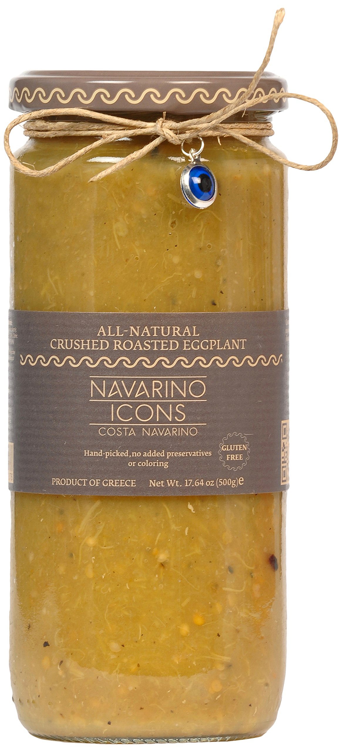 NAVARINO ICONS All-Natural Crushed Eggplant Puree, 17 Ounce