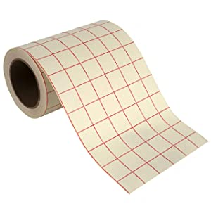 Angel Crafts Transfer Paper Tape: Craft Transfer Tape for Vinyl Application with Red Grid Lines - Self Adhesive Transfer Paper Roll Compatible with Cricut