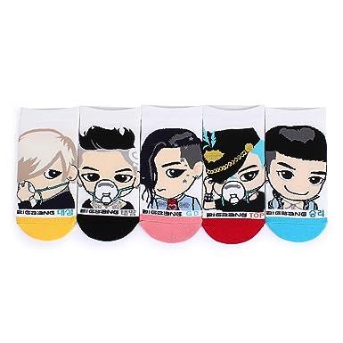 Intype Kpop Star Bts Wanna One - Calcetines estampados con funda de piel sintética Bigbang 5pairs M: Amazon.es: Ropa y accesorios