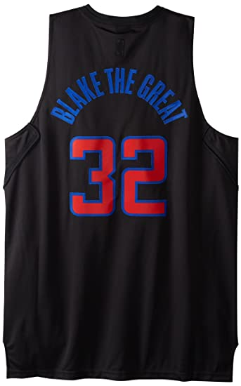 NBA Mens Los Angeles Clippers Blake Griffin Black Swingman Jersey (Black, X-Large