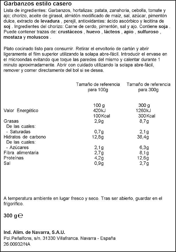 Carretilla - Garbanzos Estilo Casero, 300 g: Amazon.es ...