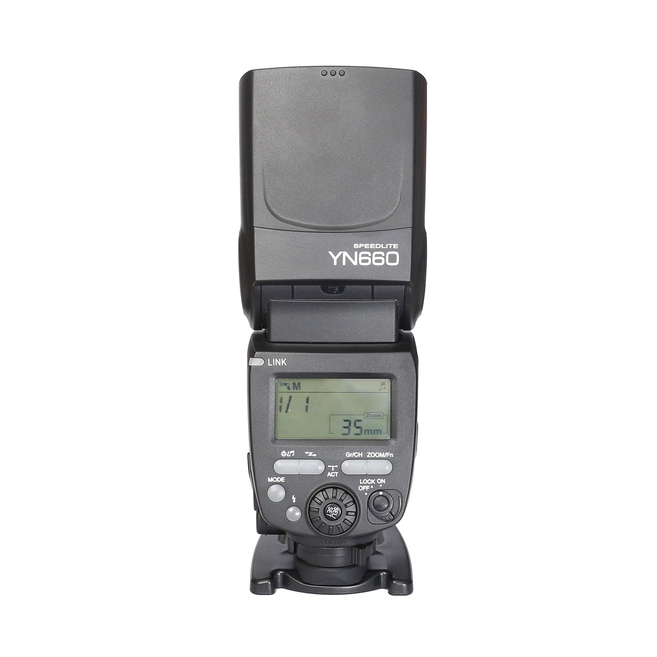 YONGNUO YN660 Wireless Manual Flash Speedlite GN66 2.4G Wireless Radio Master+ Slave for Canon Nikon Pentax Olympus by YONGNUO