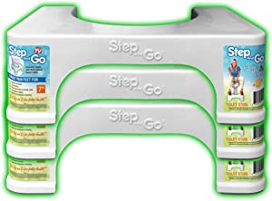 """Step and Go Triple Pack 7"""" Toilet Step (Pack of 3)"""