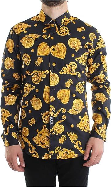 VERSACE JEANS COUTURE Camicia in Cotone B1GVB6S2 Black Size ...