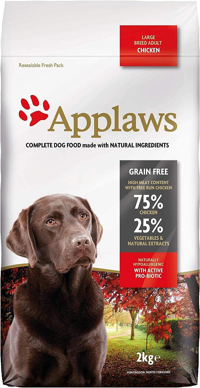 Comida seca de perros de Applaws, pollo, adultos de raza pequeñas y mediana, 2 kg