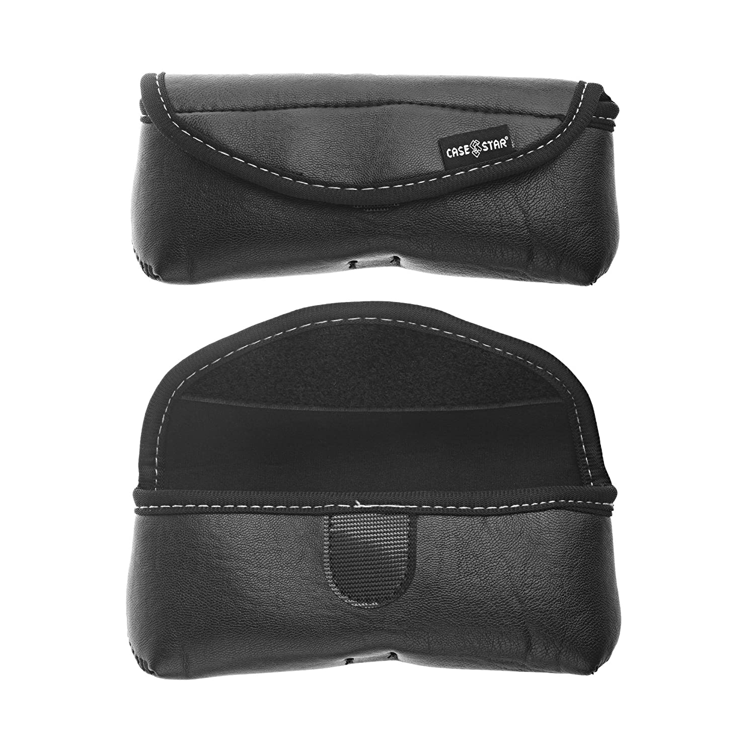 Case Star Black PU Leather Glasses Pouch Case For Sunglasses Reading Eyeglasses Eyewear