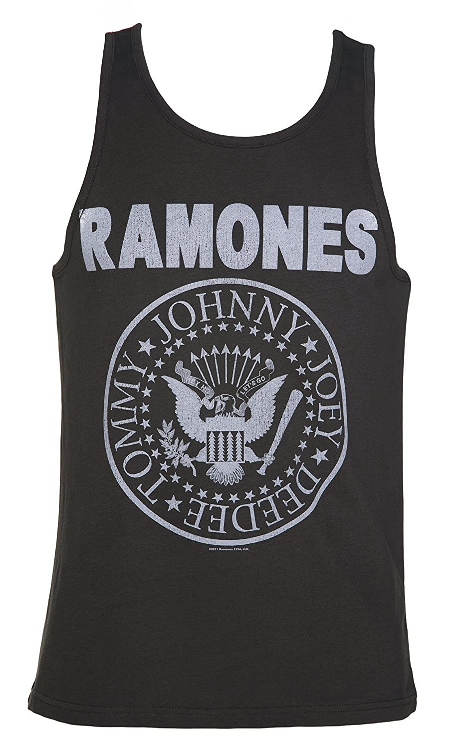 Mens Charcoal Ramones Logo Vest from Amplified