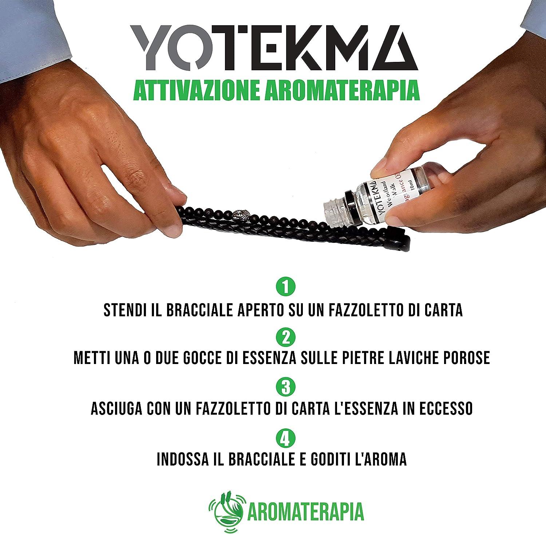 en cuir v/éritable pierre dure aromath/érapie bracelet Yotekma Bracelet pour homme avec essence pierre de lave cadeau de Bouddha avec fermeture magn/étique r/églable super s/écuris/ée mode /ét/é 2020