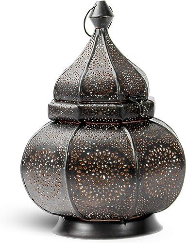 Moroccan Vintage Lantern | Tea Light Candle Holder | Decorative Standing Lamp | Vintage Style Hanging Lantern | Eastern Style Lamp | M W
