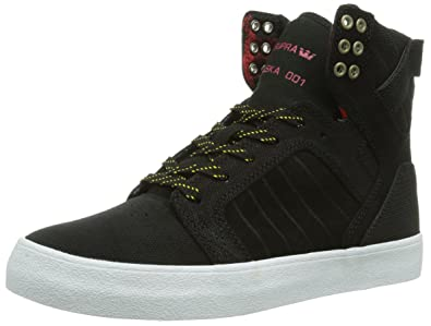 sports shoes 32f8c c9f88 Supra Chad Muska Skytop Skate Shoe - Men s Black Yellow White, ...