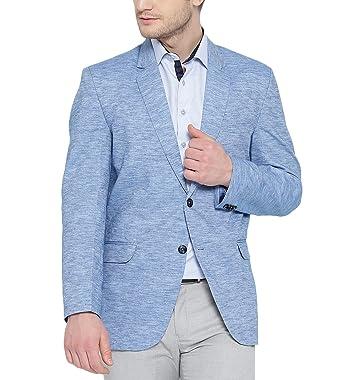 b5d4f7064b Shaftesbury London Mens Slim Fit Single-Breasted Blazer Jacket Blue