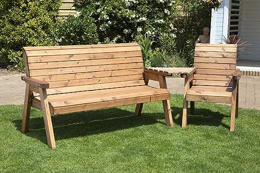 4 plazas jardín compañero asientos (en ángulo) – Love asiento jardín – Tete a Tete asientos – Patio al aire libre muebles de jardín de madera maciza: Amazon.es: Jardín