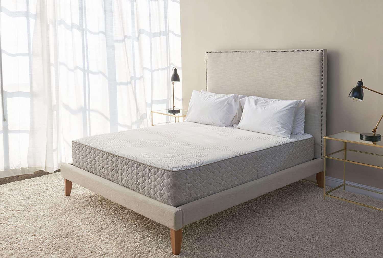 Design Tate Bed amazon com brentwood home s bed latex and gel memory foam mattress made in california firm king kitchen dining