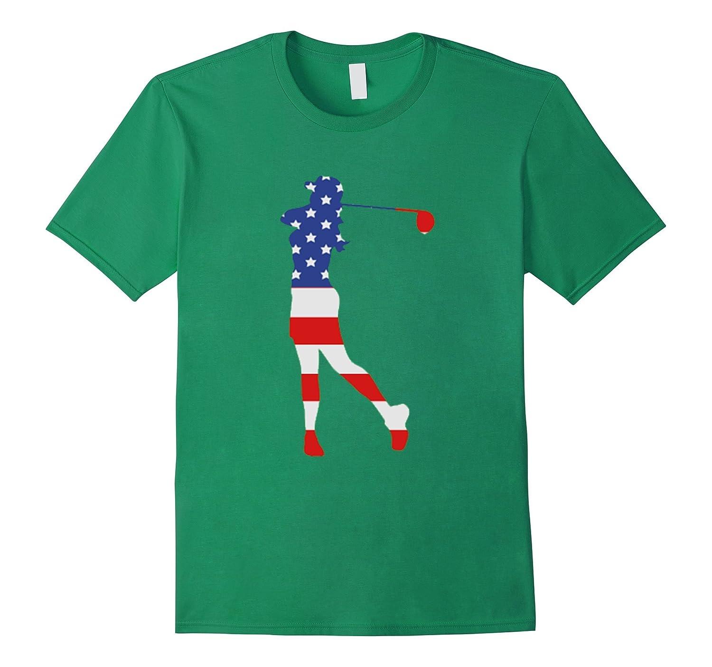 b61592e6 Patriotic Golf female American flag Shirt for 4th of July-TH - TEEHELEN