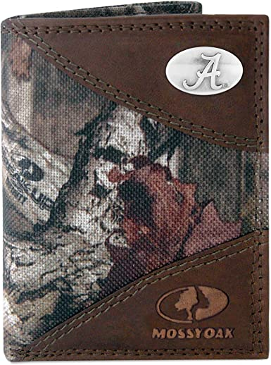 Camouflage NCAA Penn State Nittany Lions Zep-Pro Leather Trifold Concho Wallet